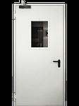 Specialios paskirties priešgaisrinės plieninės FD 30 vienvėrės durys su stiklu