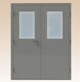 Specialios paskirties priešgaisrinės plieninės FD 30 dvivėrės durys
